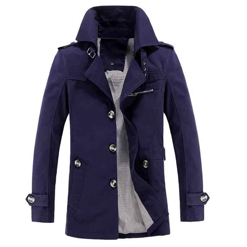 Koreanische Mantel Khaki Schwarz PLus größe XXXL XXXXL 5XL britischen stil Slim fit trenchcoat lange männer Neue Frühling 2019 mann Windjacke