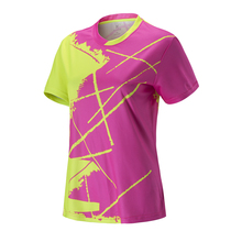 Для женщин и мужчин пара короткий рукав Гольф Настольный теннисные майки форменная одежда спортивная одежда бадминтон, бег футболка Воздухопроницаемый принт