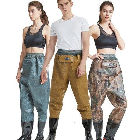 calcas de cintura pvc wading botas