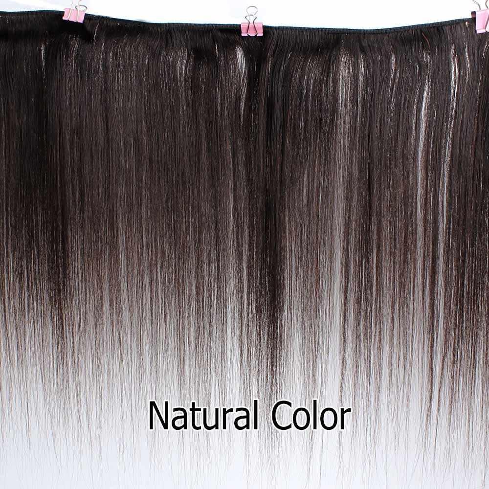 Bobbi koleksiyonu 1 paket renk 2 koyu kahverengi hint saç örgü demetleri renk 4 düz insan saçı atkı olmayan Remy saç uzatma