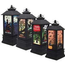 Ретро фонарь в виде тыквы на Хэллоуин привидение замок светодиодная