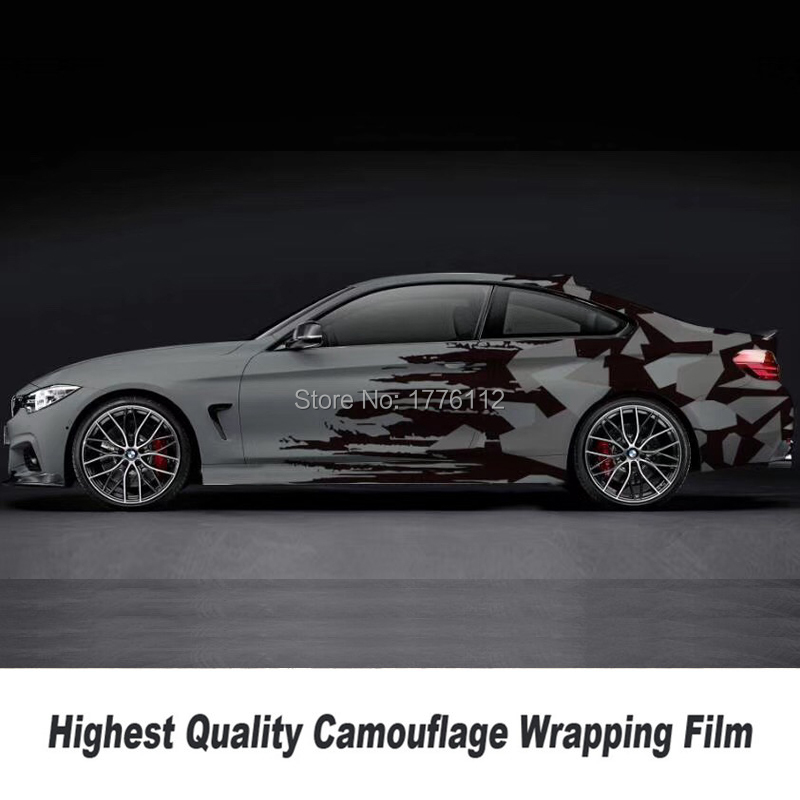 Высокое качество, камуфляжная виниловая пленка для автомобиля, Виниловая наклейка для автомобиля высокого класса, двусторонняя симметрия ... - 2