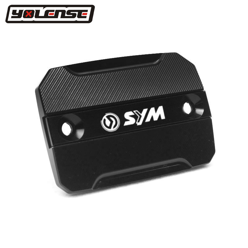 Motorcycle CNC Aluminum Front Brake Fluid Reservoir Tank Cover Cap For <font><b>SYM</b></font> CRUISYM 300 2017-2018 CRUISYM300 GTS300 GTS <font><b>300i</b></font> image