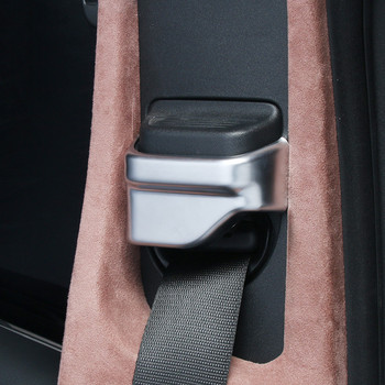 Car Styling Seat Safety Belt Cover Decoration Sticker For Mercedes Benz C W205 E W213 GLC X253 Class Interior Accessories 1