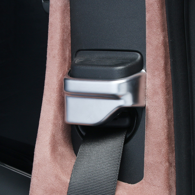 Car Styling Seat Safety Belt Cover Decoration Sticker For Mercedes Benz C W205 E W213 GLC X253 Class Interior Accessories
