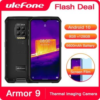 Перейти на Алиэкспресс и купить Ulefone Armor 9 камера тепловизор прочный телефон Android 10 Helio P90 Восьмиядерный 8 ГБ + 128 Гб мобильный телефон 6600 мАч смартфон