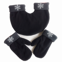 1 Set Romantic Lovers Gloves Sweethearts Women Men Winter Thickening Warm Polar Fleece Mittens For Brushed Couple Gift