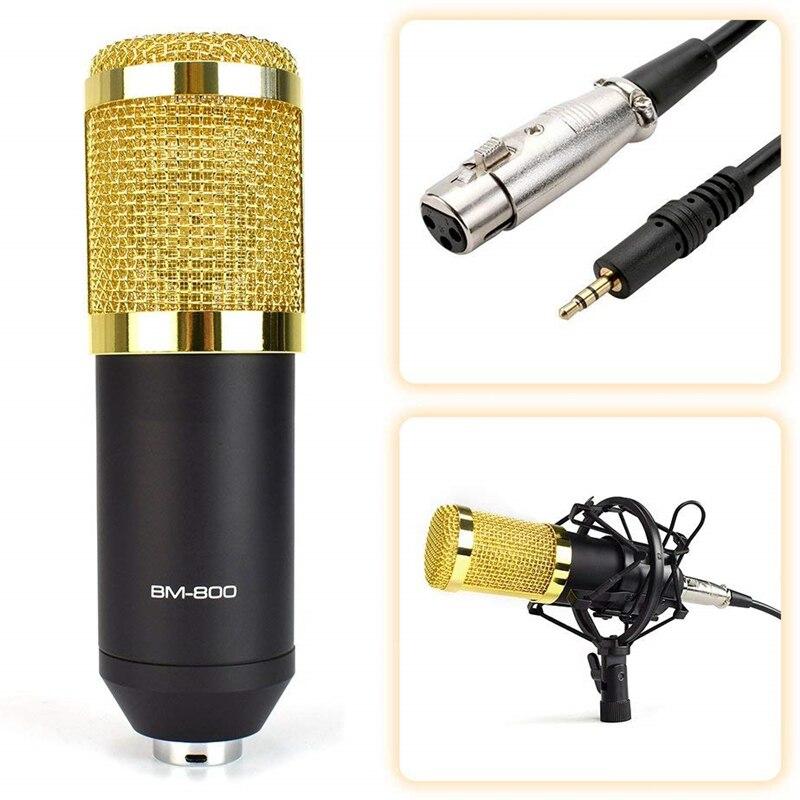 BM 800 микрофон для караоке BM800 Студийный конденсаторный микрофон mikrofon bm-800 для KTV радио braodcasing поет и записывает компьютер