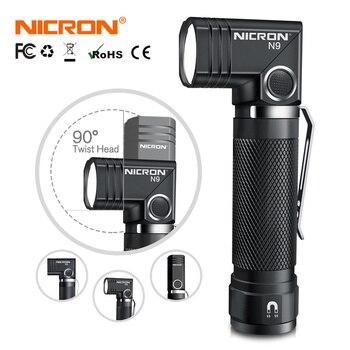 NICRON-linterna LED N9 táctica de 90 grados, 1000LM, alta lúmenes, resistente al agua, imán IP65, Mini luz para exteriores