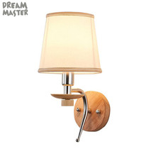 Modern Wooden Base Wall Light,Bedside Wall Mount Light with Fabric Lampshade,Indoor Wall Fixture for home hotel aisle wood lamp european style glass lampshade wall sconces e27 fashion retro metal base wall lamp balcony aisle bedroom bedside wall light w296