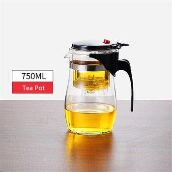 Théière en verre résistant à la chaleur, tasses de thé, 14