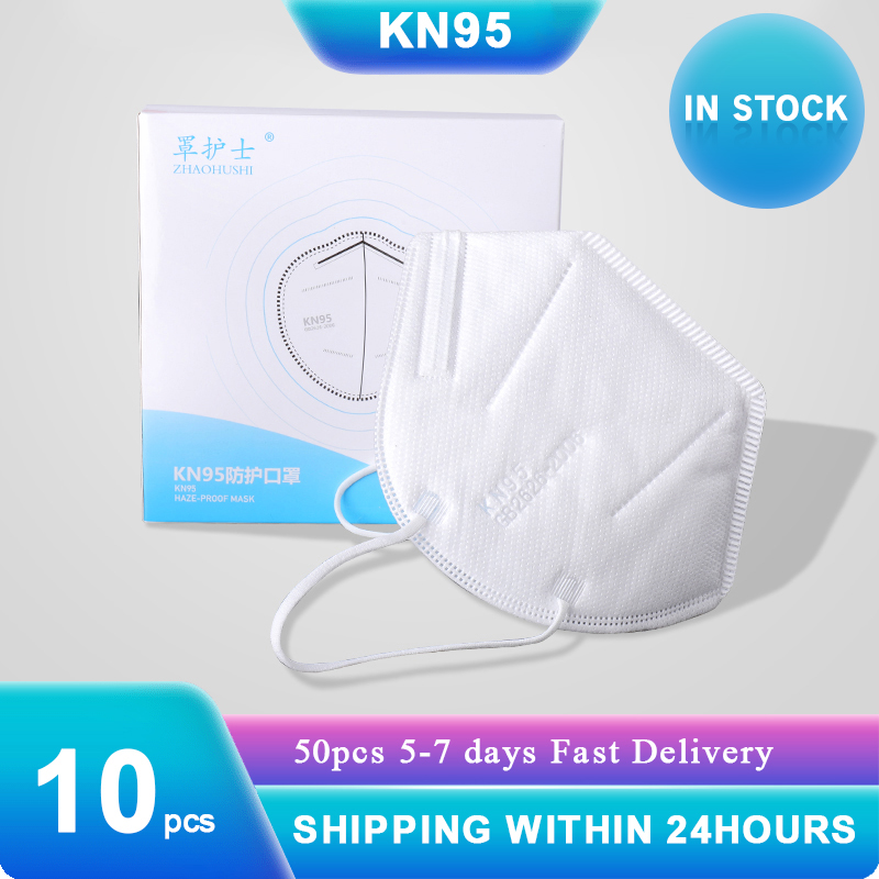 10pcs KN95 Masks 99% Filtration 2020 Dustproof Anti-fog Breathable Face Mask Features As KF94 Mask N95 Shipping With 24 Hours