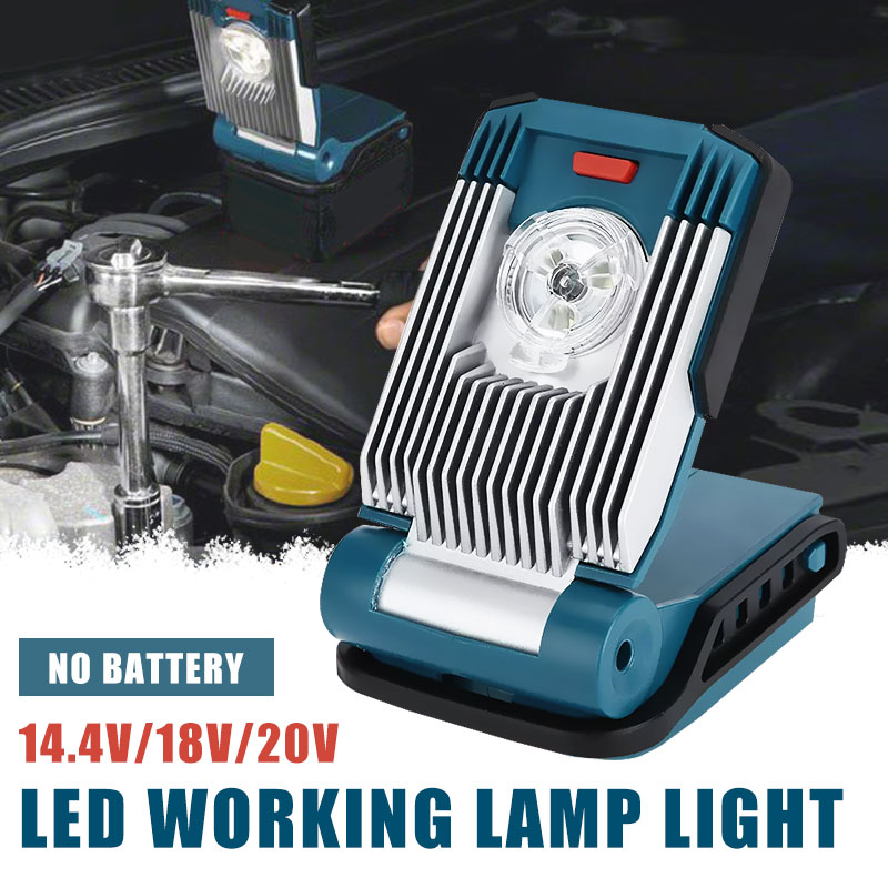 New Electric Tool Part Home Decoration Construction LED Working Lamp Light For Makita 14.4V/18V/20V Lithium-ion Battery