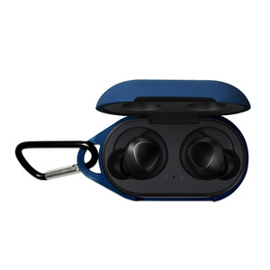 Image 4 - Silicone Protective Case for Samsung Galaxy Buds Sport Bluetooth Earphone Clamshell Opening Anti shock Case Cover with Carabiner