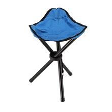 Складной стул на трех ножках, ткань Оксфорд, Портативный прочный, подходит для кемпинга, походов, аксессуаров, раскладной Трипод, табурет