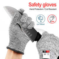 Professional Anti-cut Gloves CE Standard Level 5 Cut Resistant Non-slip Safety Gloves Multi-function For Working Home Kitchen