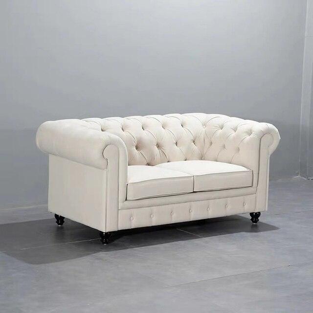 U-BEST Luxury Vintage 2 seat Chesterfield Sofa  1