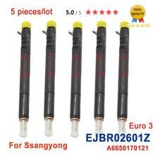 5PC Diesel Injektor EJBR02601Z A6650170121 6650170121 für SSANGYONG Kyron /Rexton /Rodius /Stavic 2,7 L Xdi SUV (165bhp) d27DT