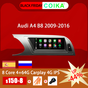 "Image 1 - 8 ליבה 8.8 ""רכב ראש יחידת לאאודי A4 B8 2009 2016 אנדרואיד 9.0 מערכת WIFI Google IPS מגע סטריאו BT Carplay 4G LTE 4 + 64G GPS"