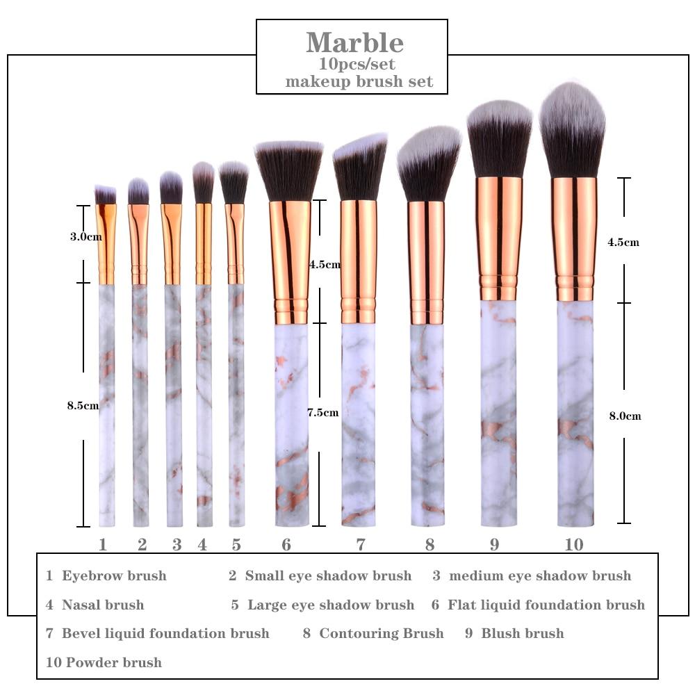 FLD 8 to 10 Pcs per Set Professional Makeup Brush Kit for Blending Foundation Eye Shadow Lipstick Eyeliner and Blush 5