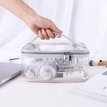 Корейский стиль Мода портативный большой емкости Многофункциональный ручной ТПУ прозрачный косметический пакет женские организации водонепроницаемый St