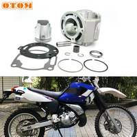 OTOM Motorcycle Top End Rebuild Cylinder Kit 66.8mm Big Bore w/Piston Rings Cylinder Gasket For YAMAHA DT230 MT TSE 250 2 Stroke