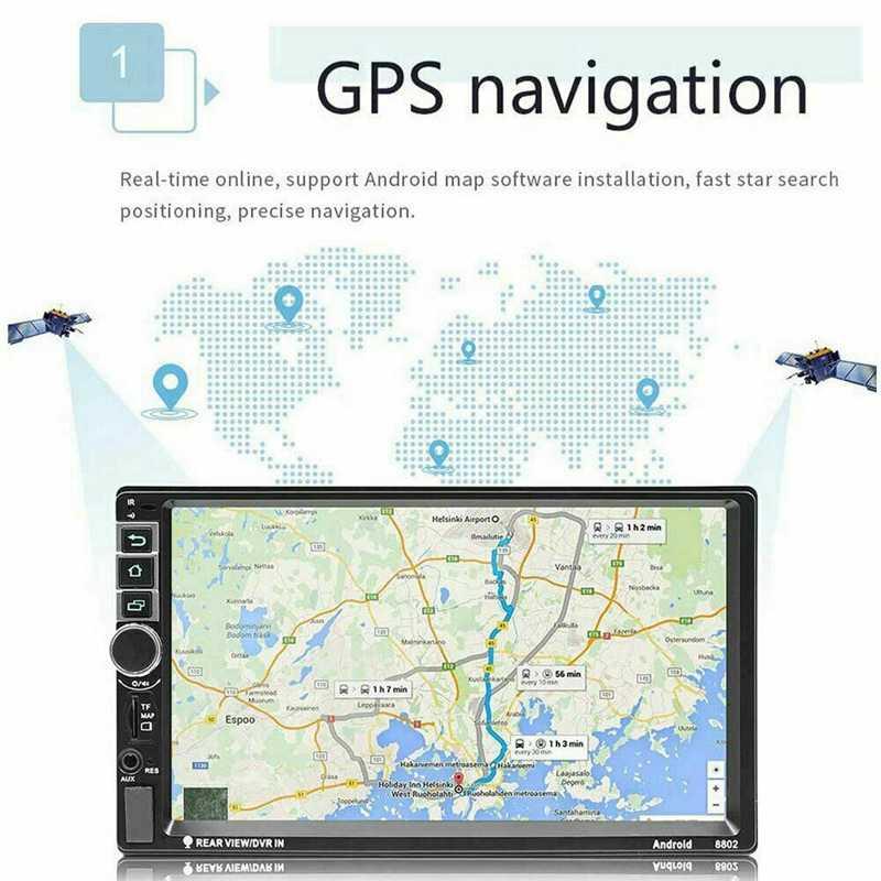 7 インチ Android のカーラジオ 2 Din Autoradio GPS ナビゲーションユニバーサル HD 車のマルチメディアプレーヤーカメラ BT FM Mirrorlink ステレオ A