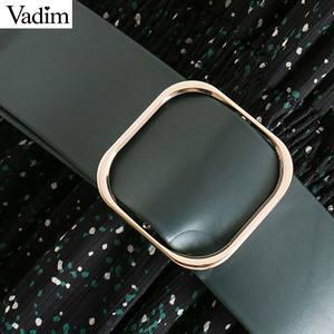 Image 4 - Vadim femmes élégant imprimé robe midi à manches longues taille élastique ceinture conception femme décontracté confortable mi mollet robes vestidos QD149