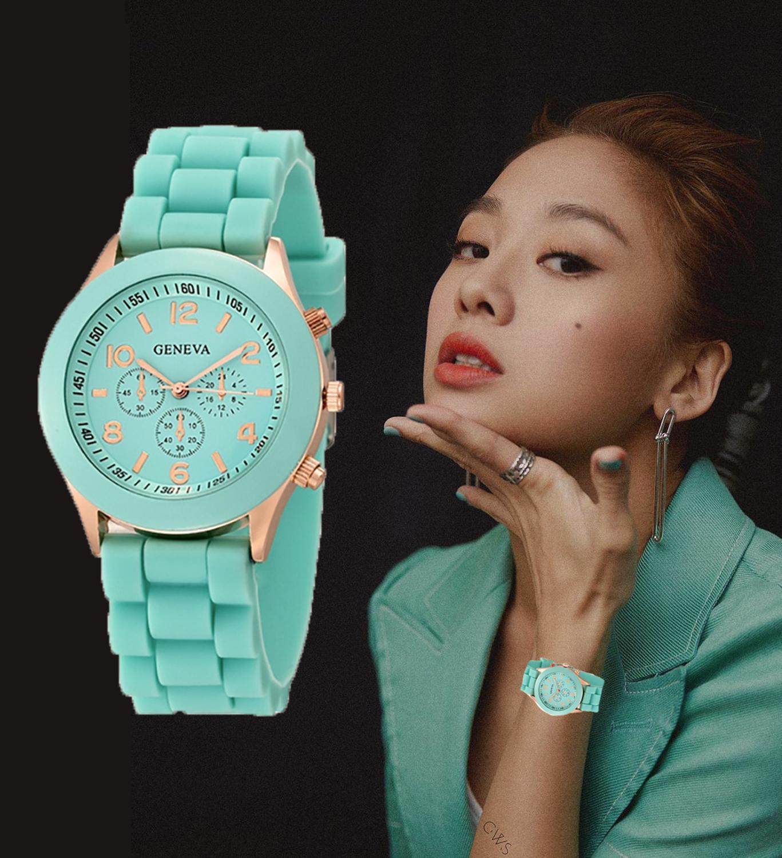 Women Watches 2019 New Fashion Brand Women's Watch Silicone Strap Quartz Wrist Watch  Relogio Feminino Zegarki
