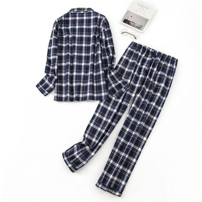 Winte Cotton Pajamas Male Leisurewear Two-piece Mens Sexy Pajamas Sleepwear Flannel Men Pajama Home Pijama Set