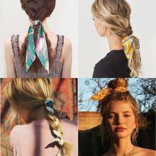 В Корейском стиле модная лента для волос с принтом в ретро имитация