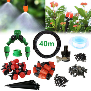 Image 2 - 40m Drip Irrigation Kit,Patio Plant Watering Kit Garden Agriculture Greenhouse Mist Cooling Irrigation System Automatic Micro Fl
