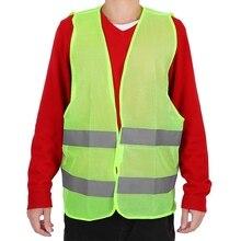 Высокая видимость сетки светоотражающий жилет безопасности дорожного движения жилет дышащий пот Устойчив для ночного велоспорта бег ходьба бег трусцой