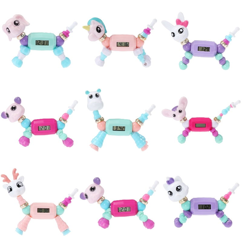 Boys Girls Unisex Baby Watch 3D Dog Sheep Animal LED Screen Children Watch Kids Electronic Digital Watches Child Christmas Gift