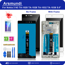 """For Nokia 3 N3 TA 1020 TA 1028 TA 1032 TA 1038 5.0"""" LCD Display Touch Screen Digitizer + Frame For Nokia3 LCDs + Gift"""
