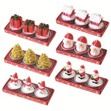Candles Snowman Christmas-Candles-Light Wedding-Decoration Gift Merry-Christmas Craft