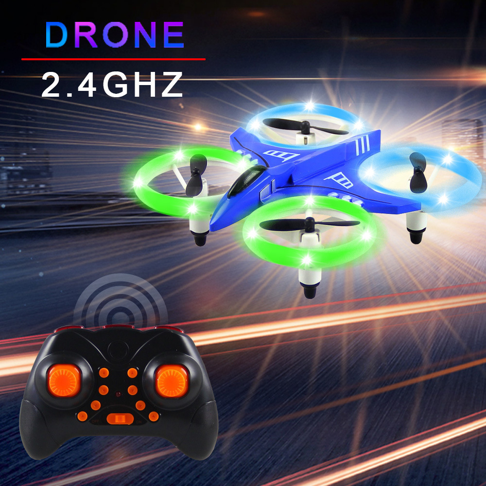 Heat-Remote-controlled Unmanned Vehicle Mini Aerial Photography Quadcopter Headless Set High LED Shining CHILDREN'S Toy