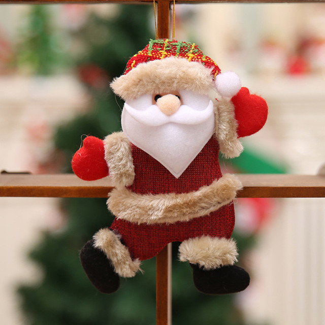 Merry Christmas Ornaments Christmas Gift For New Year Santa Claus Snowman Tree Toy Doll Hang Decorations for home #30 2