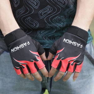 Outdoor Motorcycle Cycling Gloves Half Finger Anti-Slip Gel Sports Bicycle Glove MTB Road Riding Gloves Camping Hiking Gloves#50