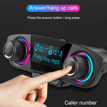 VODOOL Car FM Transmitter Dual USB Fast Charger Bluetooth Handsfree Receiving Car Kit Wireless TF Card MP3 Player Car Acces