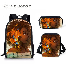Scool Bag Black Art Afro Lady Girls Backpack For Teenager Students Notebook School Girl Primary Satchel