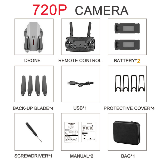Drone E88 Dual Camera Switching With Hd 1080p Camera Hight Hold Mode Foldable Arm Rc Quadcopter Drone X Pro Rtf Dron For Gift