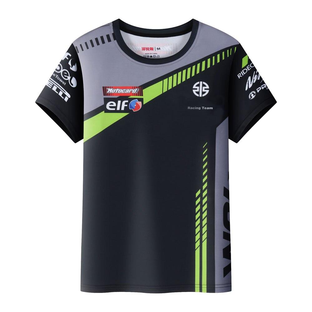 Новинка, футболка Moto GP для гоночной команды мотоцикла для Kawasaki Ninja, для езды по бездорожью, вездехода, быстросохнущая гоночная футболка зеле...