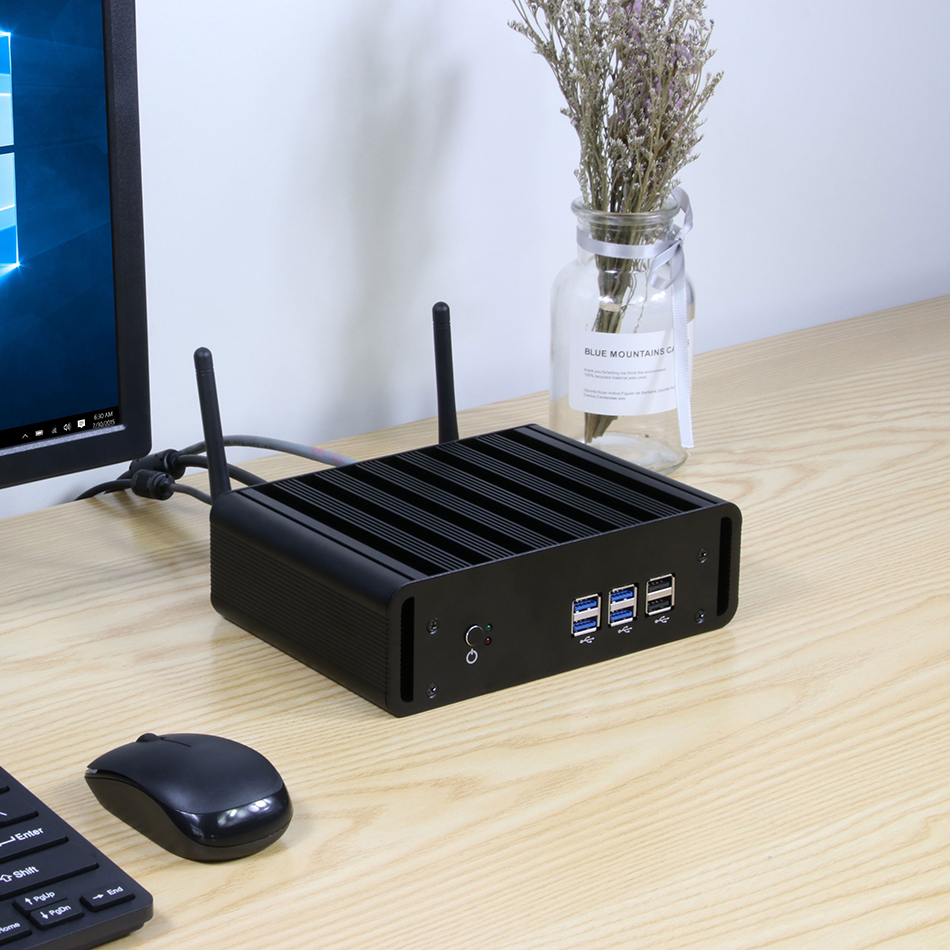 Image 3 - XCY Mini PC Core i7 7500U i5 7200U i3 7100U Windows 10 Compact Desktop PC 4K UHD HTPC HDMI 300M WiFi 6xUSB Micro ComputerMini PC   -