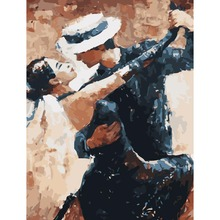 Painting By Numbers Classic Tango Dancer Picture Digital Acrylic	 Hand Painted Canvas Oil Paintings Christmas Gifts