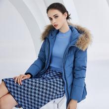 BOSIDENG women's down jacket female warm winter real fur collar hooded loose