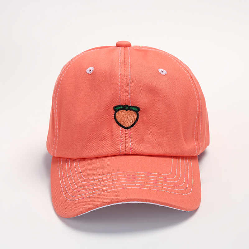 חדש אביב כותנה כובע פירות טרי חמוד יפה כובע בנות נוער בייסבול כובע כובע מעניין יפה ירוק כתום סגול צהוב כובע