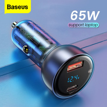 Baseus 65 واط شاحن سيارة ولاعة السجائر دعم محمول QC4.0 PD 3.0 شحن سريع آيفون 12 11 برو ماكس باد سامسونج ماك بوك