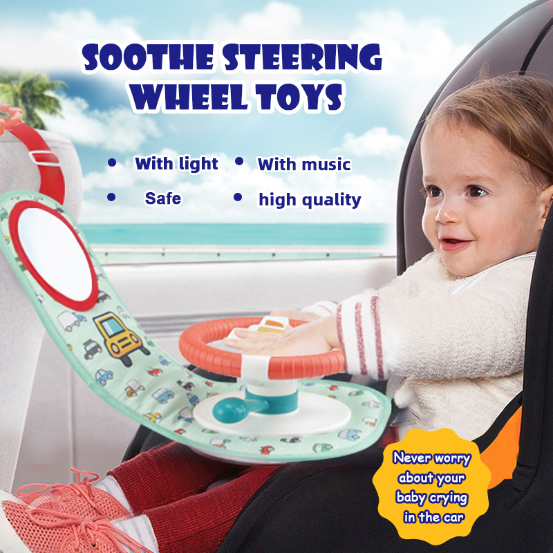 Infant Baby Toys Music Mobile 0-12 Months Simulation Small Steering Wheel Copilots Simulated Steering Early Education Sounding S