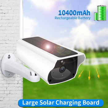 Solar Powered Battery WiFi Camera Outdoor Waterproof IP Camera Wire-Free 1080P Security Video Camera Two Way Audio PIR Motion чернила cactus cs i cl441m magenta 100ml для canon pixma mg2140 mg3140